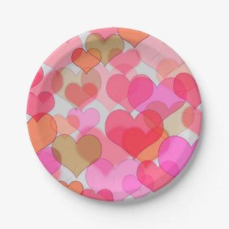 Romantic Valentine's Day Love Valentine Sweetheart Paper Plate