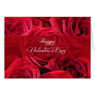 Romantic Valentine's Day Roses Card