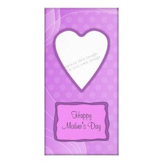 Romantic Valentine's heart design Customised Photo Card