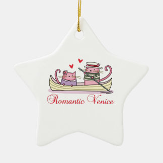 Romantic Venice Ceramic Star Decoration