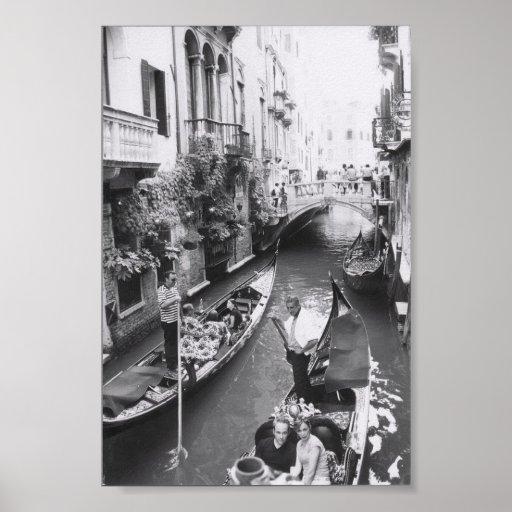 Romantic Venice Italy Gondola Canal Ride Posters