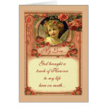 ROMANTIC VICTORIAN ROSES by SHARON SHARPE Greeting Cards