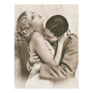 Romantic Vintage Couple Postcard