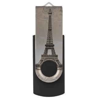 Romantic Vintage Eiffel Tower USB Flash Drive