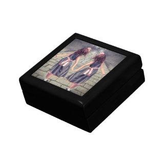 Romantic Vintage Garden Flower Girl Small Square Gift Box