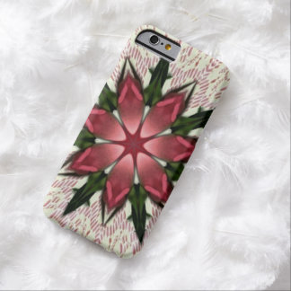 Romantic Vintage Lace Pink Rose Kaleidoscope Barely There iPhone 6 Case