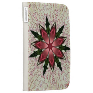 Romantic Vintage Lace Pink Rose Kaleidoscope Cases For Kindle