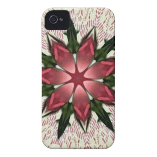 Romantic Vintage Lace Pink Rose Kaleidoscope iPhone 4 Covers