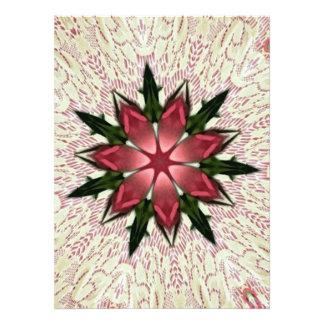 Romantic Vintage Lace Pink Rose Kaleidoscope Invite