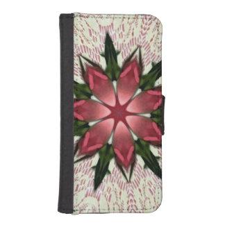 Romantic Vintage Lace Pink Rose Phone Wallet Case
