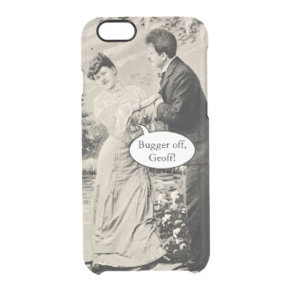Romantic vintage lovers on a boat clear iPhone 6/6S case