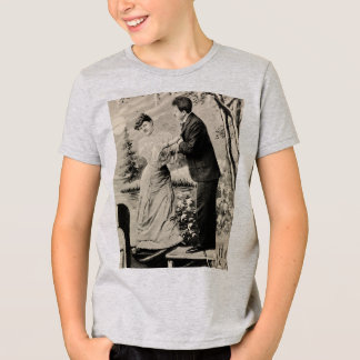 Romantic vintage lovers on a boat T-Shirt