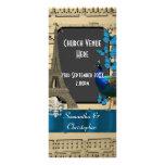 Romantic vintage Paris wedding program Customised Rack Card