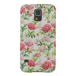 Romantic Vintage red pink Roses Case For Galaxy S5