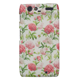 Romantic Vintage red pink Roses Droid RAZR Cover