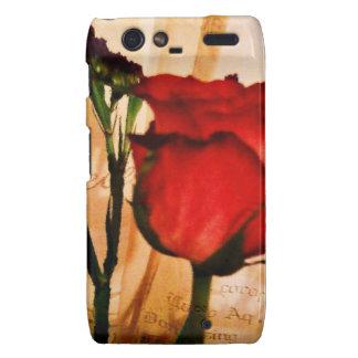 Romantic Vintage Red Rose Motorola Droid RAZR Cases