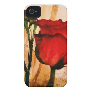 Romantic Vintage Red Rose iPhone 4 Cover