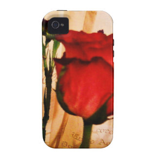 Romantic Vintage Red Rose Case For The iPhone 4