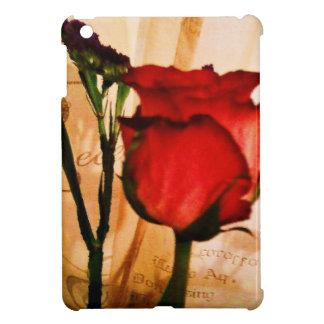 Romantic Vintage Red Rose iPad Mini Cases