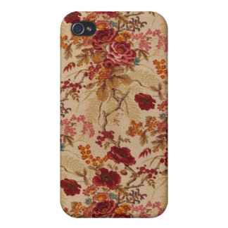 Romantic Vintage red Roses iPhone 4 Case