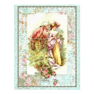 Romantic Vintage Regency Couple with Roses 21.5 Cm X 28 Cm Flyer