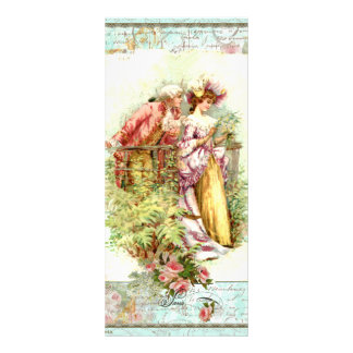 Romantic Vintage Regency Couple with Roses Custom Rack Cards