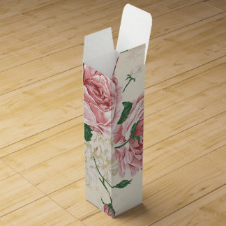 Romantic Vintage Rose Flower Pattern Wine Box