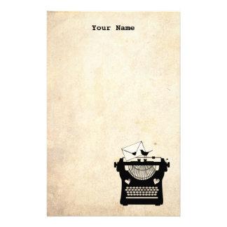 Romantic Vintage Typewriter Customized Stationery