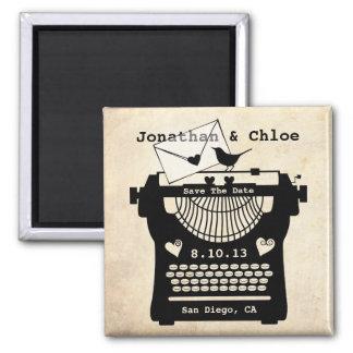 Romantic Vintage Typewriter STD Magnet