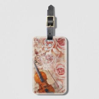 Romantic Violin Luggage Tag