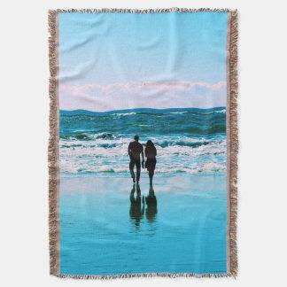 Romantic Walk on the Beach Blanket