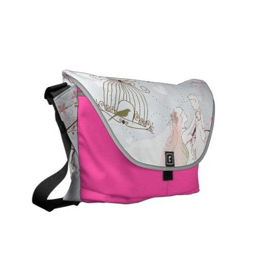 romantic wedding bag pink courier bag
