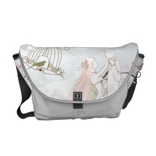 romantic wedding bag silver courier bag