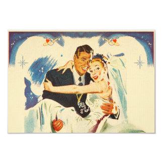 "Romantic Wedding Couple 3.5"" X 5"" Invitation Card"