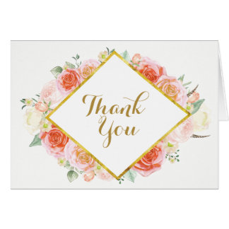 Romantic Wedding Thank You Cards