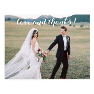 Romantic Wedding Thank You Postcard