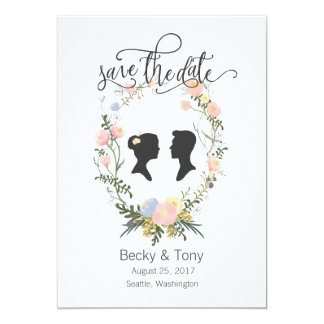 Romantic & Whimsical Save the Date Card