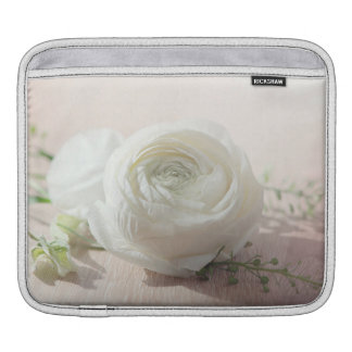 Romantic White Rose iPad Sleeves