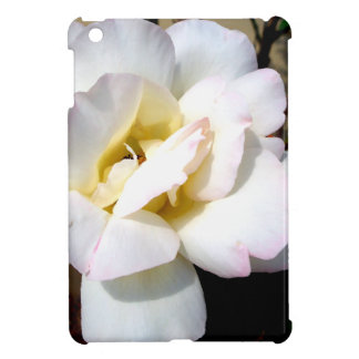 Romantic White Rose Vintage Soft Look Cover For The iPad Mini