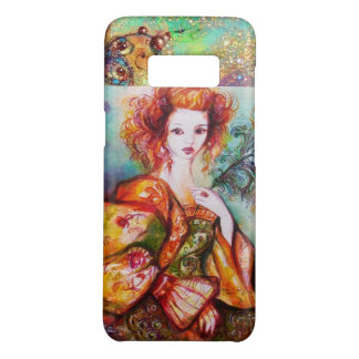 ROMANTIC WOMAN WITH SPARKLING PEACOCK FEATHER Case-Mate SAMSUNG GALAXY S8 CASE