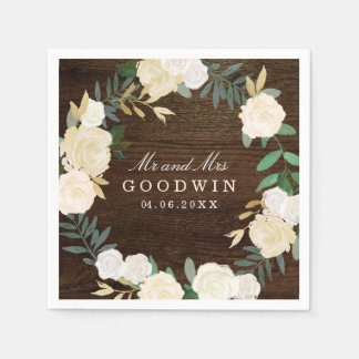 Romantic Woodland Wedding Napkins Paper Napkin