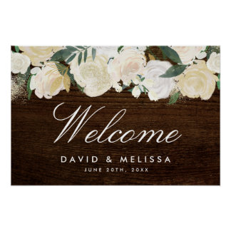 Romantic Woodland Wedding Welcome Sign