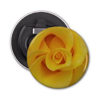 Romantic Yellow Rose Petals Bottle Opener