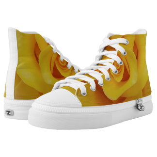 Romantic Yellow Rose Petals High Tops