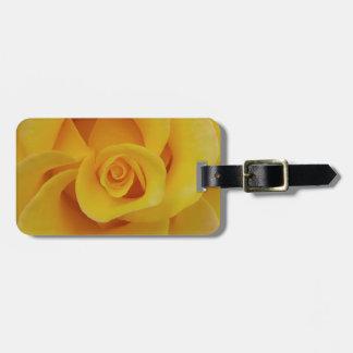 Romantic Yellow Rose Petals Luggage Tag