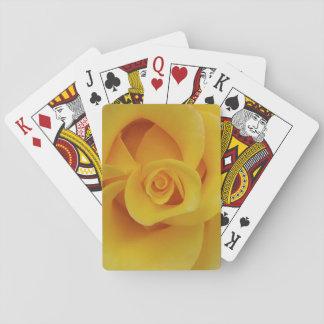 Romantic Yellow Rose Petals Playing Cards