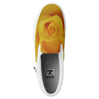 Romantic Yellow Rose Petals Slip On Shoes