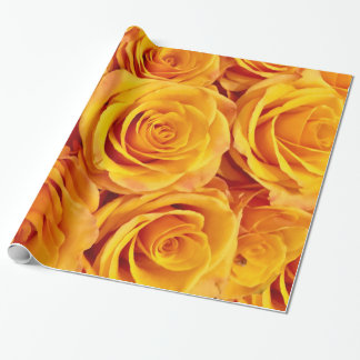 Romantic Yellow Roses Wrapping Paper