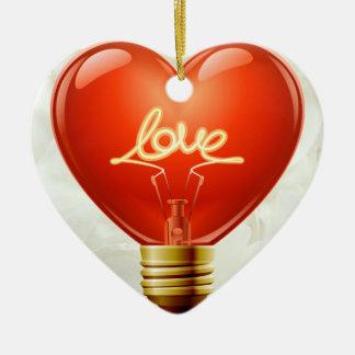 Romantic You Light Up My Life Ornament