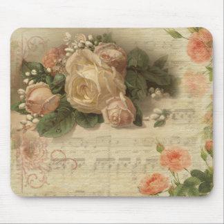 Romatic Vintage Floral Mousepad